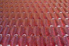 装飾ガラス「バイナリーXL」カラーオプション ジェムストーンレッド