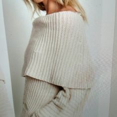 Sweater. 🌺. Knit off shoulder.  Bought from another posher but wrong size never worn. Sweaters Cowl & Turtlenecks