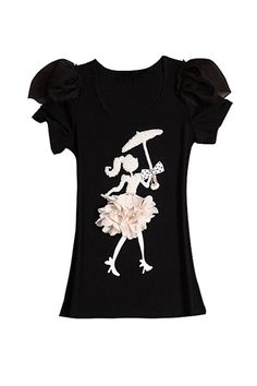 $88.00  Pretty Parasol T-shirt  Product Code:  40183104  www.missiny.com