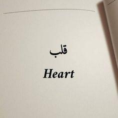 قلب Meaning : heart Pronunciation : (qalb) #heart #hearts #heartstrings #love #arabic #arabgram #words #arab
