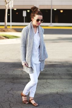 Shoes: Old Navy, Pants: F21, Top: F21, Sweater: c/o Lauren's Picks, Sunglasses: Target