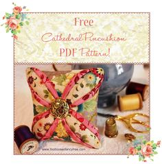 FREE PDF Pincushion Pattern!  from *Free♥ Pretty ♥Things ♥For ♥You* by FreePrettyThings