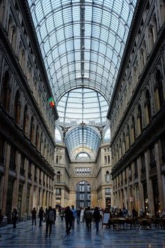 Galleria Umberto, Naples  via Nothing Less Than Perfect blog