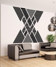 Vinyl Wall Decal Sticker Double Vision Mountains Stickerbrand wall art decals, wall graphics and wall murals. Home Wall Decor, Room Decor, Wall Design, House Design, Diy Wall Painting, Bedroom Wall, Interior Design, Double Vision, Wall Murals