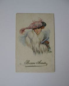 E Colombo  Artist Signed Post Card  Bonne by CrossCreekPokeweed