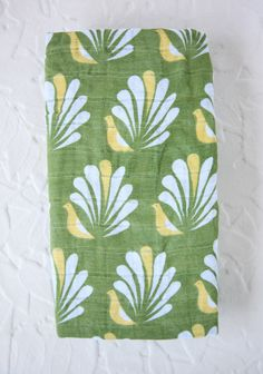 Green Peacock Eco Swaddle Blanket at #Ruche @shopruche