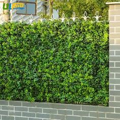 [ $207 OFF ] Uland 48 Pcs 25Cm*25Cm Artificial Boxwood Hedge Outdoor Faux Ivy Privacy Fence Screen Wall Outdoor Garden Decor G0602A009