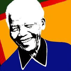 Portrait of Nelson Mandela by David Mack. Acrylic on canvas.