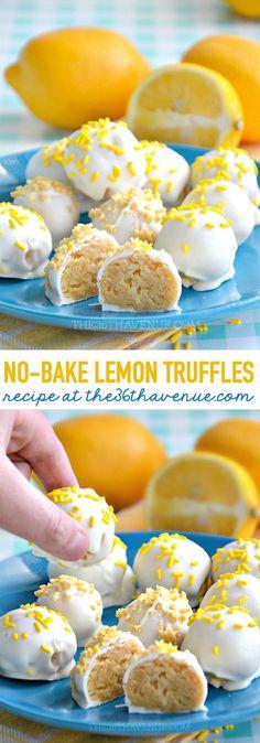 Lemon Truffles by http://the36thavenue.com