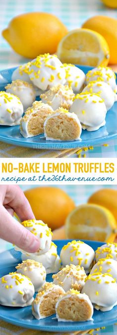 Lemon Truffles by http://the36thavenue.com
