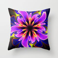 Floral delight Throw Pillow