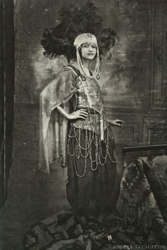 What a flapper! With that headdress, surely she was a performer? Portrait by James van der Zee of G. G. G. Studio, circa 1920