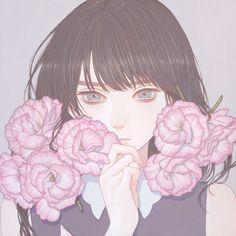 「私のための花」 紺野真弓 Mayumi Konno 2016 273x273mm キャンバスにアクリル Acrylic on Canvas