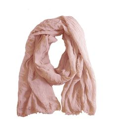 Handmade large blush pink summer scarf in luxurious soft linen and modal mix