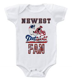 NEW Football Baby Bodysuits Creeper NFL New England Patriots #3