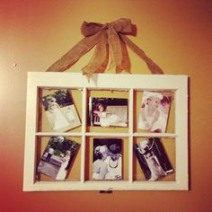 Rustic Window pane full of memories!