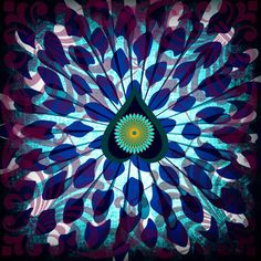 'Blue Peacock ' by Artemis Papadopoulou on artflakes.com as poster or art print $16.63