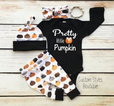 Baby Girls First Halloween Outfit, Leggings,Hat and Headband With Pumpkins,Baby Girls First Halloween Outfit Set - Baby Boy Names Baby Girl Names Newborn Halloween Outfits, Baby Girl Halloween Outfit, Halloween Headband, Halloween Outfits For Kids, Halloween Tags, First Halloween, Halloween 2019, Baby Girls, Toddler Girls
