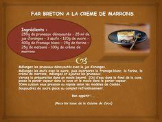 Far breton à la crème de marrons