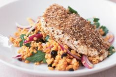 Dukkah spices infuse this fish dish with the flavours of the Middle East.