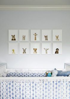 babyzimmer gestalten filigrane tierbilder