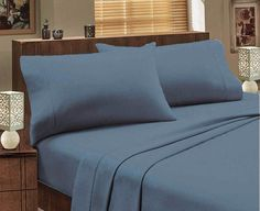 Charlton Home Dulcia Extra Soft Deep Pocket Embroidery Sheet Set Size: California King, Color: Gray Twin Sheet Sets, Cotton Sheet Sets, Percale Sheets, Bed Sheets, Flannelette Sheets, Ruffle Bedding, Flat Sheets, Fitted Sheets, California King