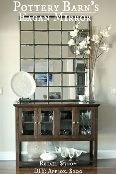 Pottery Barn Eagan Mirror. Beautiful! Console table it is on needs to be bigger.