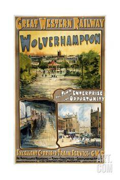 Great Western Railway Wolverhampton (Staffordshire) Poster Giclee Print at Art.com