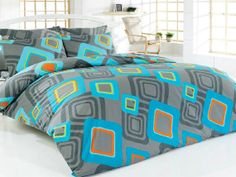 Double Duvet Cover Set  100 Cotton  Turquoise by linensandpillows, $95.00 Double Duvet Covers, Duvet Cover Sets, Comforters, Turquoise, Blanket, Bed, Creative, Cotton, Home