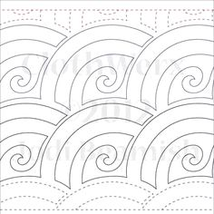 """Baptist Swirl - Paper- 6"""" - Quilts Complete - Continuous Line Quilting Patterns"""