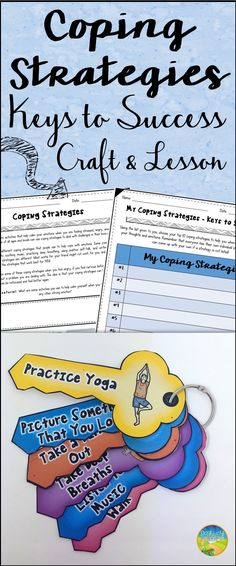 Awesome coping strategies keys to help with anxiety, anger, depression, stress, and more.