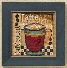 MILL HILL KIT - Buttons & Beads Autumn Series - Latte - Counted Cross Stitch Kit