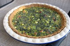 Who needs cheese? This spinach and green onion dairy-free quiche recipe has bacon (or ham) and other rich flavors to give it decadence and punch.