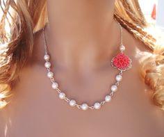 Etsy - 47$- Élégant bijoux de mariée /Bridesmaid-rose corail par SunVDesigns