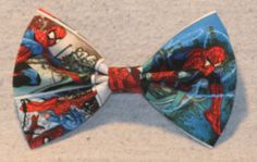 Spiderman Comic Book Print Hair Bow by TheRubyPigdotcom on Etsy