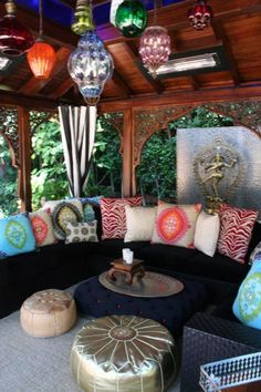 Close up of the interior ceiling design/lighting decor of my dream gazebo (from Christina Aguilera's Pink Palace).