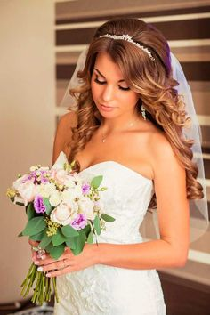 bridal veil hairstyles 1