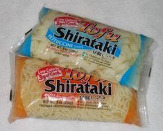 Another pinner said: These noodles made from tofu and are the best!  40 calories for the whole bag and when mixed with things like olive oil/lemon/garlic or spaghetti sauce or melted cheese they are great. One of my favorite foods.
