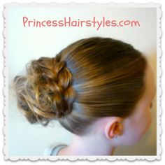 easy and cute braid wrapped messy bun