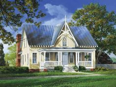 Gothic Revival House Plan with 2802 Square Feet and 4 Bedrooms(s) from Dream Home Source | House Plan Code DHSW55265