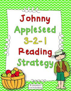 Teaching With Love and Laughter: Johnny Appleseed 3-2-1 Reading Strategy