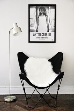 "For my ""new"" living room. Butterflychair + sheepskin"