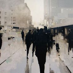 We are disappearing in the rain (work by Geoffrey Johnson)