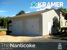 The Nanticoke - 24 x 24 x 10 View, configure and price this building at http://www.MyPoleBuilding.com/