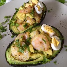 "10.3k Likes, 205 Comments - SHONDA (@shonda1020) on Instagram: ""Stuffed Avocado with Garlic Shrimp By @TheSaffronGirl . 1 whole medium avocado about 2 cups medium…"""