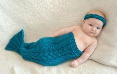 KNITTING PATTERN PDF Mermaid Tail  Sizes: nb 3 by KnotEnufKnitting