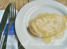 Petto di pollo in  crema al limone