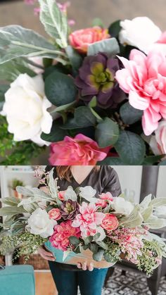 Best 12 Learn how to make this cheap & easy DIY faux flower arrangement using mostly items from the dollar store! I'm using dollar store mums, roses, greenery and throwing in some lamb's ear & eucalyptus. Spring Flower Arrangements, Silk Floral Arrangements, Artificial Flower Arrangements, Floral Centerpieces, Artificial Flowers, Ranunculus Centerpiece, Valentine Flower Arrangements, Ranunculus Boutonniere, Ranunculus Wedding