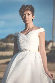 Anne  Short Wedding Dress Organza  by TheLittleWhiteDress on Etsy, $488.00