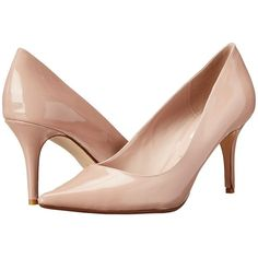 Dune London Alina (Nude Patent) High Heels ($99) ❤ liked on Polyvore featuring shoes, pumps, heels, nude pumps, nude patent pumps, patent leather pumps, slip-on shoes and high heel pumps